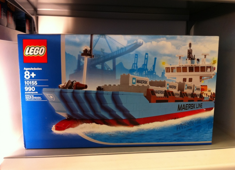 lego maersk containerschiff lego bei. Black Bedroom Furniture Sets. Home Design Ideas