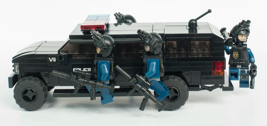 Swat Police Gelände Wagen Mit Team Lego Bei 1000steinede
