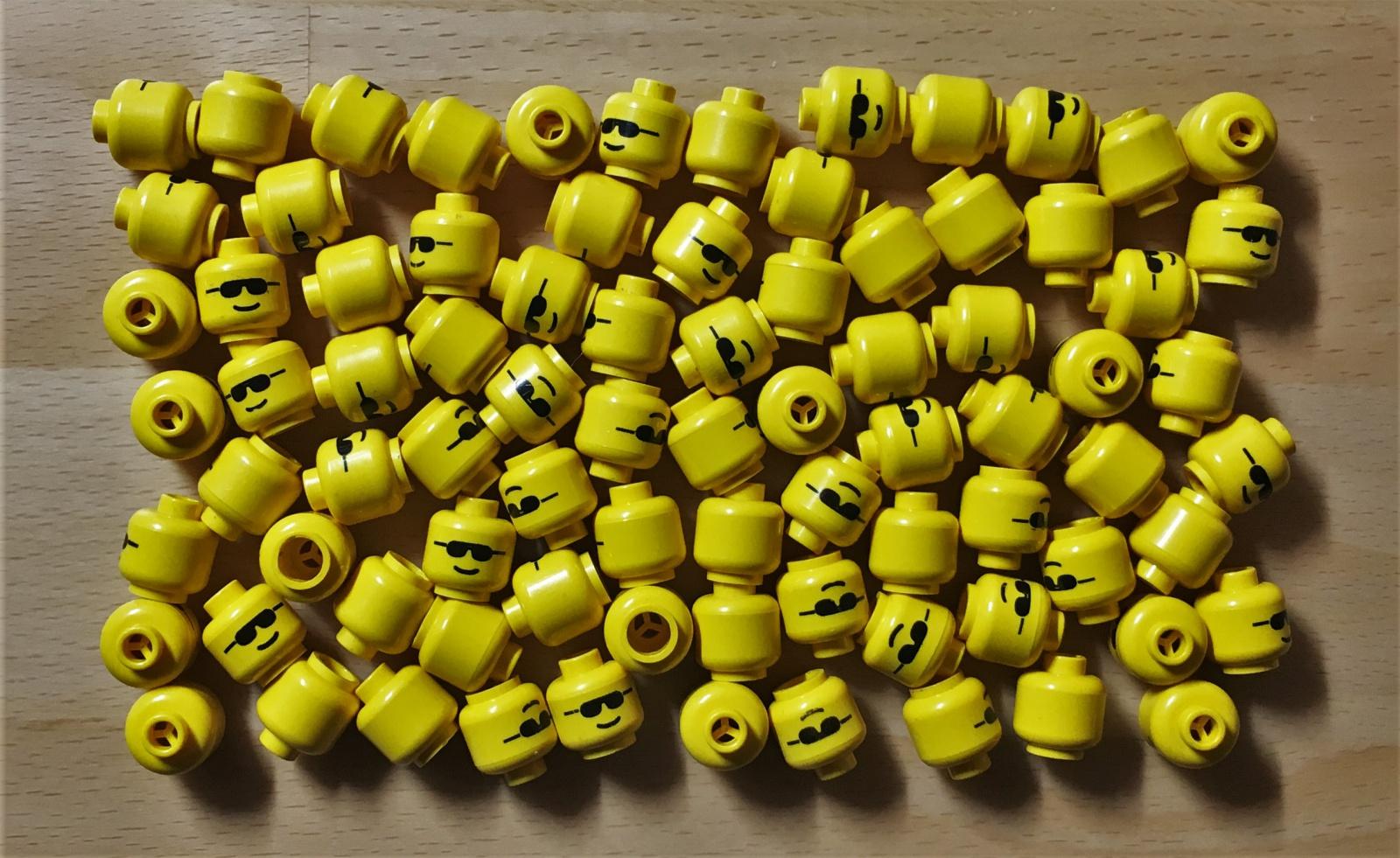 Lego Figur Köpfe Gelb 5 Stück