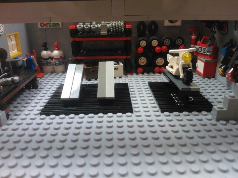motorrad garage mein erstes moc lego bei. Black Bedroom Furniture Sets. Home Design Ideas