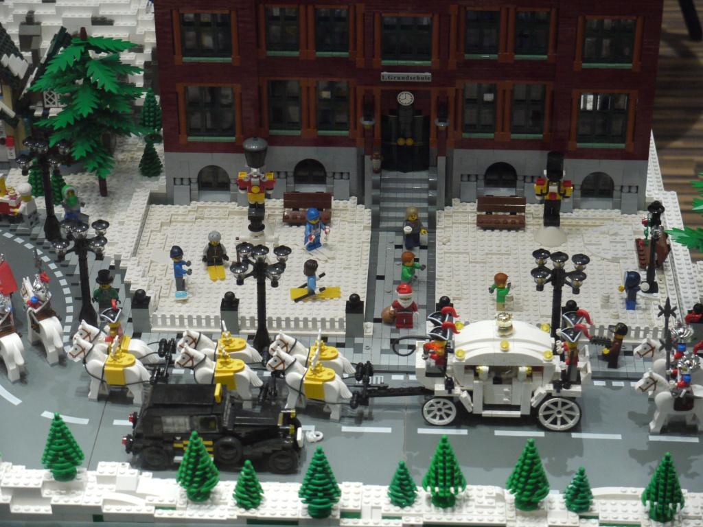 Winterliche weihnachtslandschaft eine Schaufensterdekoration
