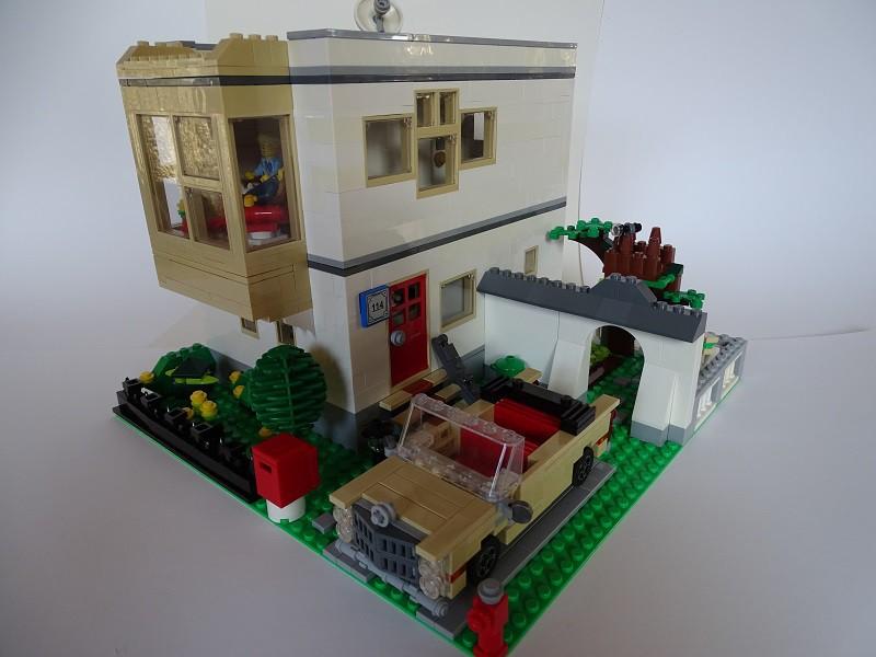 Re modernes wohnhaus lego bei for Modernes lego haus