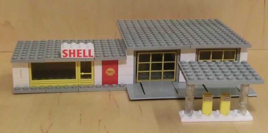 re shell tankstelle nummer 325 mit schriftstein 1x6. Black Bedroom Furniture Sets. Home Design Ideas