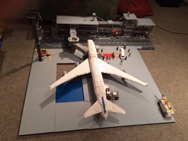 fluggastbrücken im modell
