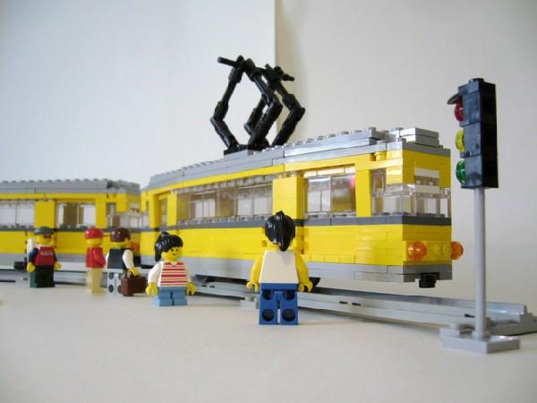 Re Straßenbahn Typ T57 E Mit Beiwagen B57 E Gothawagen Lego